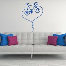 Fixed Gear Bicycle Heart Vinyl Wall Decal road bike removable sticker K622-W