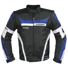 Mens Waterproof Textile Winter Motorcycle Biker Nylon Fabric Jacket CE Blue