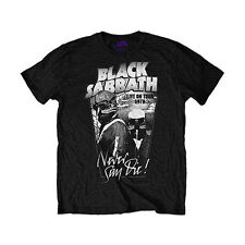 Black Sabbath Men's  Never Say Die 1978 T-shirt Black