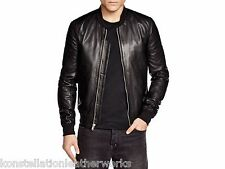 Bomber Style Leather Jacket New Soft Lambskin Material Made For Men EHS M- 327