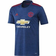 adidas Manchester United 2016 - 2017 Away Soccer Jersey Brand New Royal / Red