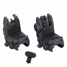 Tactical Folding Front & Rear Set Flip Up Back-up Sights BUIS GEN 1/2 SWAT Black