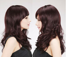 Long Weave With Bangs 100% Real Human Hair Wigs Natural Hair Wigs No Lace RJ446
