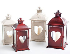 Lantern Candle - Lanterns with Heart From Metal for Tea Light or candle heart