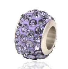 5pcs Silver Filled Ball Zirconia Charm Beads Loose Large Hole Big 2016