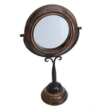 Wooden dressing table swing mirror vintage country style home chic Sheesham