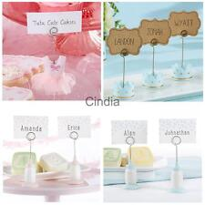 Mini Dress/Feeding Bottle/Crown Photo Place Card Holder Wedding favor Pink/Blue