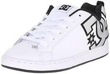 DC Shoes Court Graffik Women's Leather Skate Shoes White/Metallic Silver