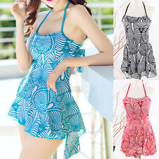Womens Swimwear Two Piece Swimdress Bathing Suit Swimsuit US Size 8 10 12 14 16