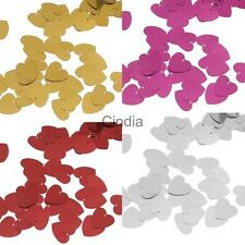 Christening Wedding Party Sparkle Heart Confetti Table Decoration Craft 14mm