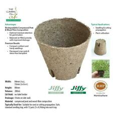 80mm Jiffy pots with slits. Ideal for plant seed seedling & cutting propagation.