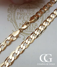 "Solid 9ct Yellow Gold Men's 1oz 8.2mm Curb Chain 20"" Italian Made UK Hallmarked"