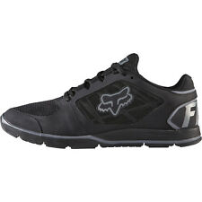 Fox Racing Motion Evo Shoes Black Charcoal Sneakers Trainers Fox Head Running