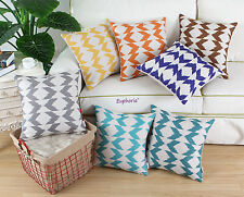 Cushion Covers Pillows Shell Fantasy Ikat Zigzag Geo Print 45 X 45cm Home Decor