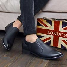 Fashion men's pointy toe oxford faux leather casual dress formal loafer shoes