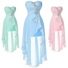 Short Long Chiffon Bridesmaid Formal Gown Ball Party Evening Prom Dress Pageant