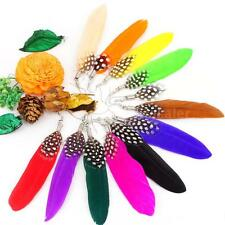 Feathers With Lovely Dot Earrings Cute Women's Dangle Earring Jewelry Gift L3S0