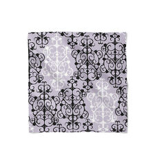 Black & White Damask Satin Style Scarf - Bandana in 3 sizes