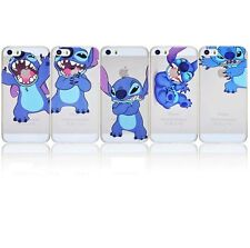 Case/Cover Apple iPhone 5 5s SE + Screen Protector / Clear Hard Back Stitch