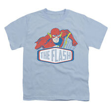 DC Comics Men's  Flash Sign T-shirt Blue Rockabilia