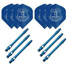 Everton Standard shape dart flights & aluminium stems set