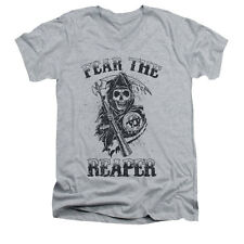 Sons Of Anarchy Men's  Fear The Reaper Slim Fit T-shirt Athletic Heather
