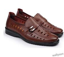 Fashion mens casual summer  hollow out leather dress fisherman sandal shoes #s02