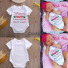 Cotton Cute Newborn Baby Romper Bodysuit Jumpsuit Outfits Clothing White