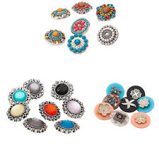 2016 new wholesales 10PC,20pc mixed 18mm metal Rhinestone snaps buttons