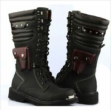 new Korea fashion Tide boot lace-up gothic punk rock band punk rock boots