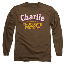 Charlie And The Chocolate Factory Men's  Logo Long Sleeve Coffee Rockabilia