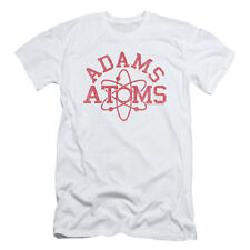 Revenge Of The Nerds Men's  Adams Atoms Slim Fit T-shirt White Rockabilia