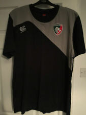 Leicester Tigers Rugby Union  Black and Grey T-shirt Size XL