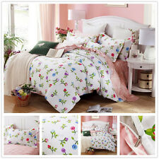 Quilt/Duvet Cover Floral White Single Double Queen King Size Bed Set Pillowcases
