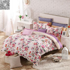 HOT FLORAL New 100% Cotton Queen Full Twin Size Quilt/Duvet Cover Bedding Set