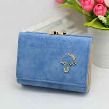 Women's Card Coin Holder Candy Color Wallet Fashion Trifold Purse Hasp Clutch