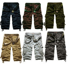Men's summer loose casual  large size multi-pocket camouflage shorts pants