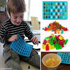 50 Cavity Silicone Gummy Chocolate Bear Mold Candy Maker Ice Tray Jelly Moulds