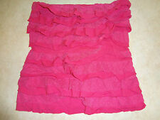 jUNIORS SIZE MEDIUM PINK RUFFLES POLKA DOT LACE TUBE STYLE TOP SHIRT HOLLISTER !
