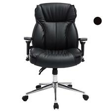 High Back PU Leather Executive Office Desk Task Computer Chair w/Metal Base