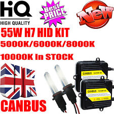 55W H7 AC HID Xenon Conversion Headlight Kit F1 CANBUS Slim Ballast Bulbs