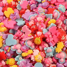 Promotions 100pcs/lot Random Mixed Girl lovely Resin Accessories DIY Hand Making