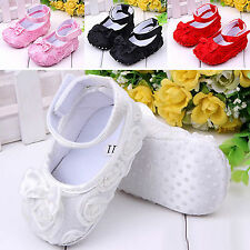 Baby Girl Toddler Fashion Antiskid Sandal Prewalker Infant Bow Rose Flower Shoes