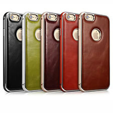 Xoomz Genuine Vintage Leather & Aluminium Bumper Case Cover for Apple iPhone 6s