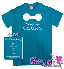 3 Personalized Mickey Ears With Family Name Family Vacation T-Shirts