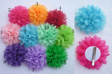 lot chiffon flowers with clip for baby girls headbands hairband hair children