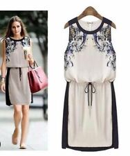 New Women Ladies Celebrity Sleeveless Paisley Print Swing Dress Party Top
