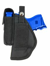 New Barsony OWB Gun Belt Loop Holster w/ Mag Pouch Springfield Compact 9mm 40 45