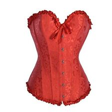 NEW Red Brocade Sweetheart Corset Top Style 5XL FREE SHIPPING