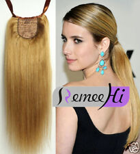 Tails Long  soft human hair ponytail remy human hair clip in hair extension 100g